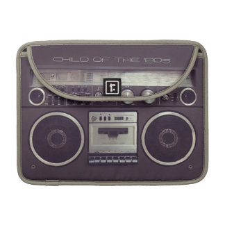 Retro Boombox Cassette Player Funny Macbook sleeve