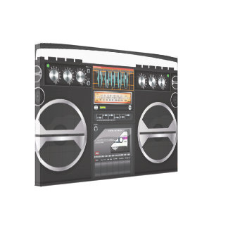 Retro Boombox Ghetto Blaster Canvas Print
