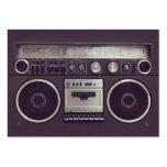 Retro Boombox Ghetto Blaster Music business card