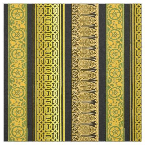 Retro Borders in Gold Fabric