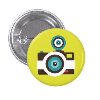 Rétro bouton de talent d'appareil-photo de jouet macaron rond 2,50 cm