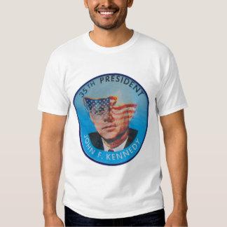 Rétro bouton vintage de clignoteur de John Kennedy T Shirts