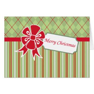 Retro Bow Christmas Card