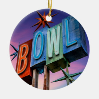 Retro BOWL sign 300 game ornament