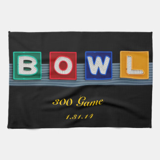 Retro Bowling Kitchen Towel