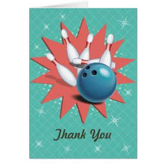 Retro Bowling Thank You Card