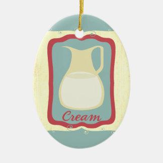 Retro breakfast cream pitcher Christmas ornament