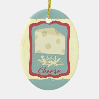 Retro breakfast swiss cheese Christmas ornament