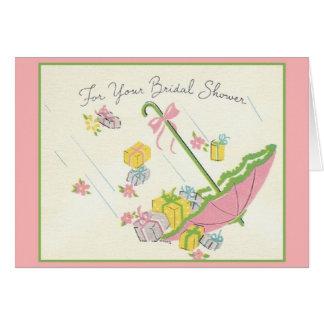 Retro Bridal Shower Greeting Card
