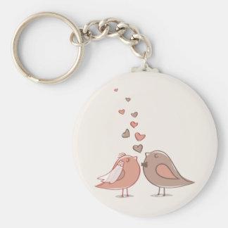 Retro Bride and Groom Birds Gifts Basic Round Button Keychain