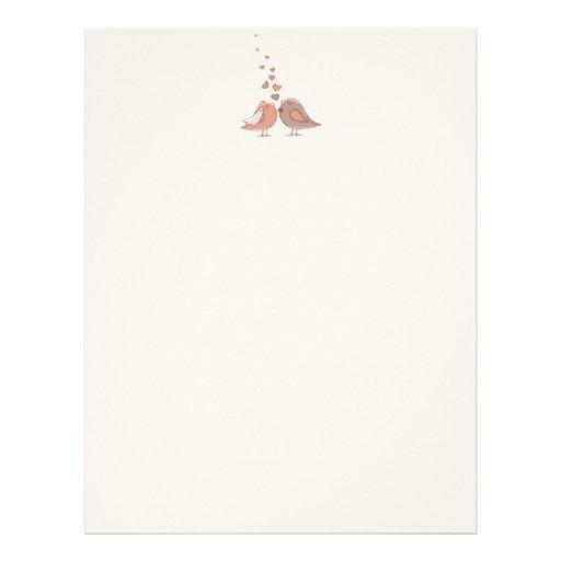 Retro Bride and Groom Birds Gifts Custom Letterhead