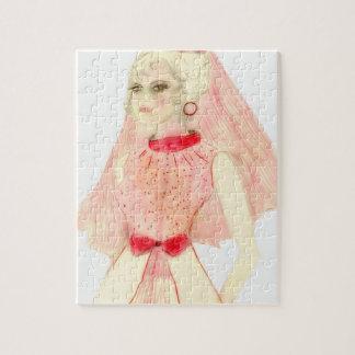 Retro Bride in Red Puzzle
