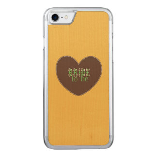Retro Bride to be Carved iPhone 8/7 Case