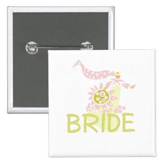 Retro Bride Tshirts and Gifts Pins