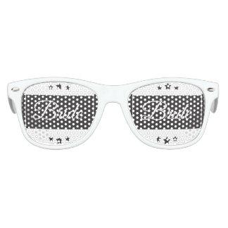 Retro Bride typography design Kids Sunglasses