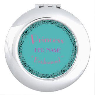 Retro-Bridesmaid-Princess-Template-Favors_ Compact Mirror