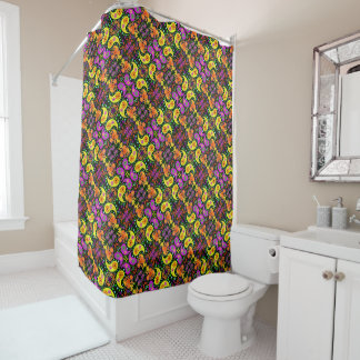 Retro Bright Colorful Psychedelic Paisley Pattern
