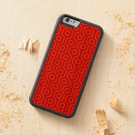 Retro Bright Red Hexagonal Geometric Pattern Cherry iPhone 6 Bumper