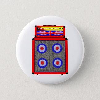 Retro British Amp 2 Inch Round Button