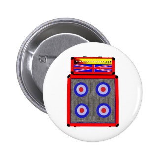Retro British Amp 2 Inch Round Button