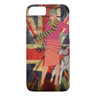 Retro British Lady Union Jack I Love London iPhone 8/7 Case