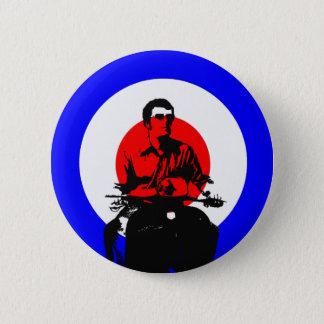 Retro British Mod Scooter Boy Button Badge
