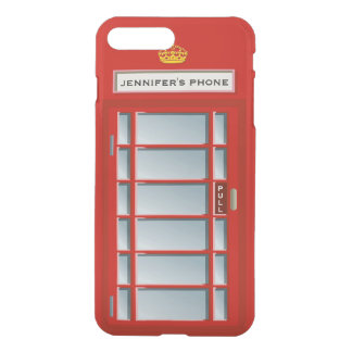 Retro British Telephone Booth Red Personalized iPhone 7 Plus Case