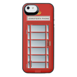 Retro British Telephone Booth Red Personalized