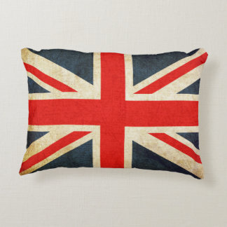 Retro British Union Jack Flag Accent Pillow