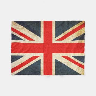 Retro British Union Jack Flag Fleece Blanket