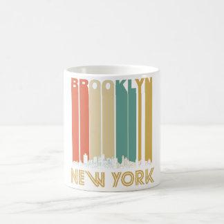 Retro Brooklyn New York Skyline Coffee Mug