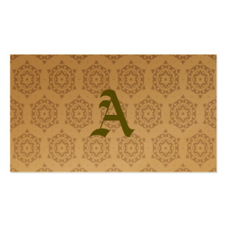 retro,brown,beige,floral,70's, pattern,vintage,tre business card