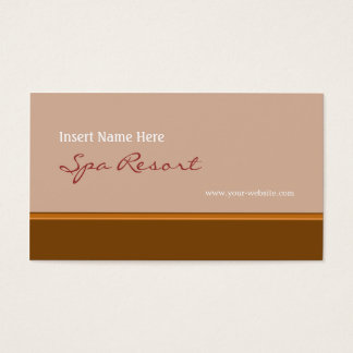 Retro Brown Business Card