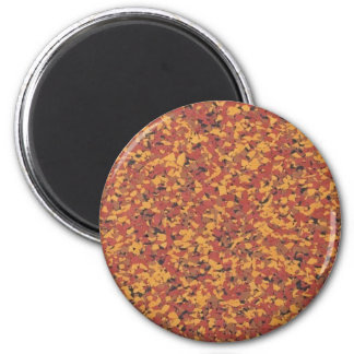 Retro Brown Confetti Speckled Magnet