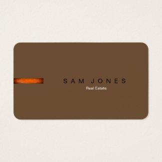 Retro Brown Orange Business Card