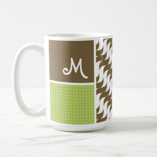 Retro Brown Wave; Waves Coffee Mugs