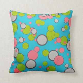Retro Bubbles Throw Pillow