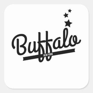 Retro Buffalo Logo Square Stickers
