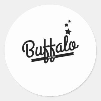 Retro Buffalo Logo Sticker