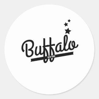 Retro Buffalo Logo Stickers