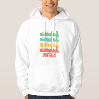 Retro Buffalo NY Skyline Pop Art Hoodie