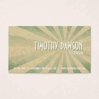 Retro Burst - Teal Business Card