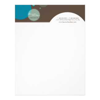 RETRO BUSINESS LETTERHEAD :: large dots 4