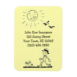 Retro Businessman on Sunny Day Magnet