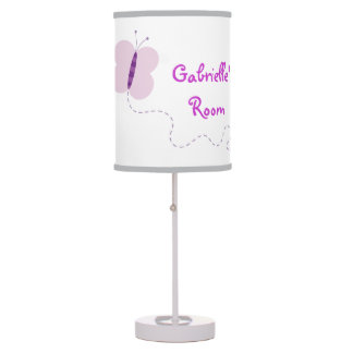 Retro Butterfly Personalized Girly Custom Lamp