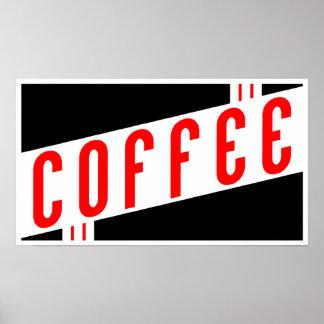 rétro café poster
