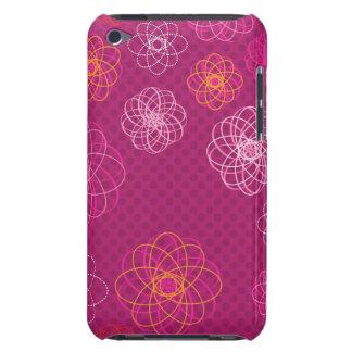 Rétro caisse mignonne d'iPod de motif de fleur Coques iPod Touch
