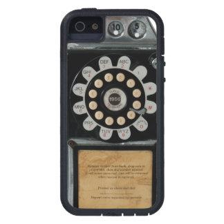rétro caisse noire de téléphone payant iPhone 5 case