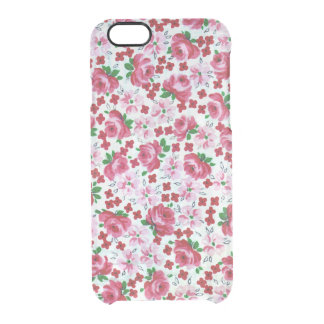 Rétro caisse rose de déflecteur de Clearly™ de Coque iPhone 6/6S