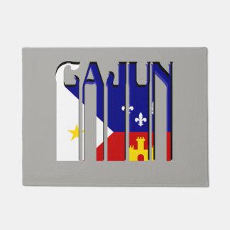 Retro Cajun Acadiana Flag Louisiana Door Mat